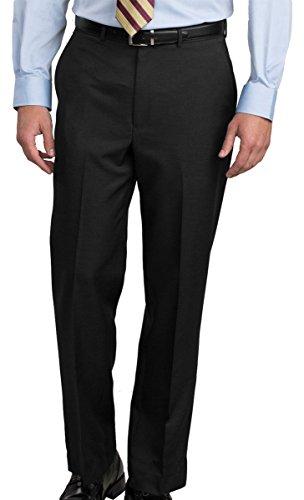 Ed Garments Men's Washable Dress Pant, Black, 34 36 -
