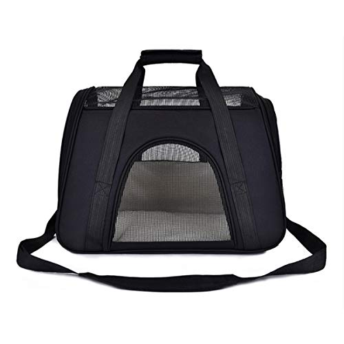 Petame Pet Carrier, Airline Approved Expandable Soft Sided Pet Travel Carriers with 2 Expandable Mesh Windows/3 Open…