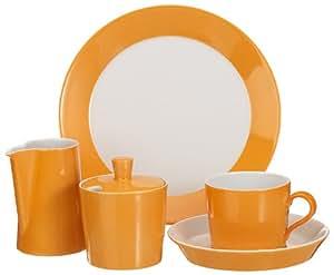 Arzberg Porzellan 9700/06543/3314  - Juego de café (14 piezas), color naranja
