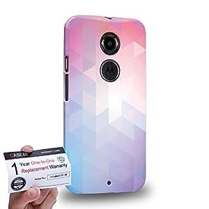 Case88 [Motorola Moto X (2nd Gen)] 3D impresa Carcasa/Funda dura para & Tarjeta de garantía - Art Design Color Mix Geometric Stars