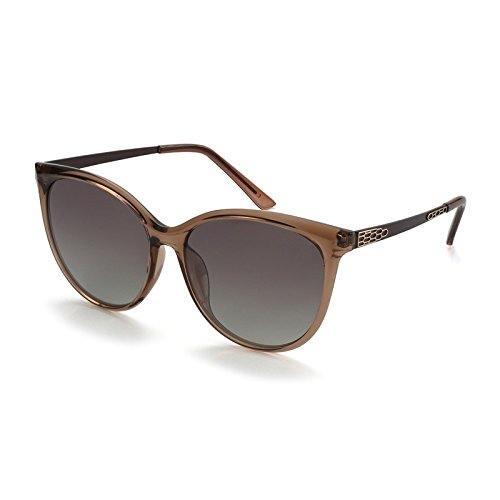 del de de de Gato Sunglasses TL Gafas Bastidor el Rojo Moda Gafas Ronda Mujer Posterior Gafas la polarizadas de Ojo Femenina Brown Sol de Sol Parte Gran qpnwCEa