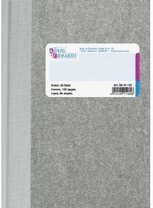 K+E Gesch/äftsbuch A6 liniert 96 Blatt Deckenband grau