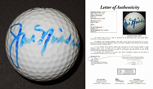 Jack Nicklaus Signed - Autographed Golf Ball with FREE DISPLAY CASE - FULL Letter of Authenticity - JSA Certified -