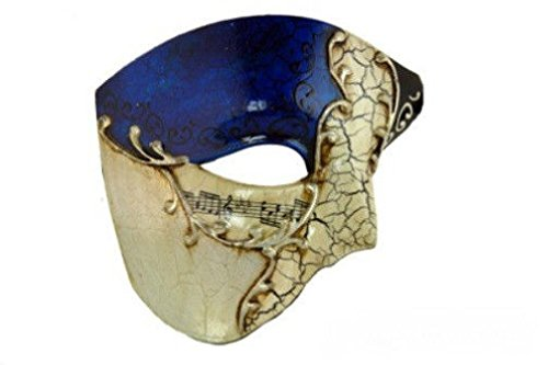 OvedcRay Phantom Of The Opera Venetian Masquerade Mardi Gras Costume Half Mask Musical