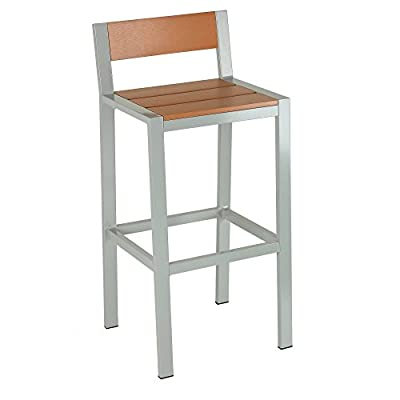 Cortesi Home Lola Aluminum Outdoor Barstool