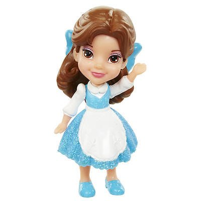 My First Disney Princess Mini Toddler Blue Dress Belle Poseable Doll - Princess Mini Little