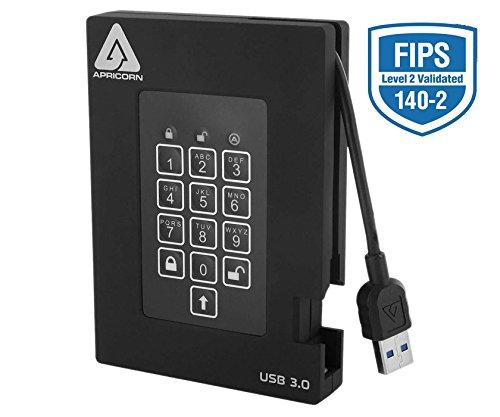 Apricorn Aegis Padlock A25-3PL256-500F 500 GB External Hard Drive - USB 3.0-5400 - 8 MB Buffer - Portable (155581)
