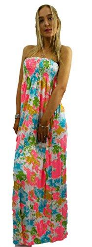 Reggiseno Big Newtrendyfashion a Vestito Floral Multi Donna fascia Pq5R67q