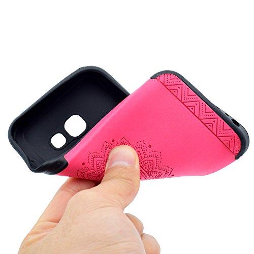 inShang Funda para Samsung Galaxy A3(2017) suave TPU Carcasa Cajas Soporte Skin case cover Para Galaxy A3(2017) Rose printing