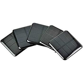 Amazon Com Uxcell 5pcs 2v 40ma Poly Mini Solar Cell Panel
