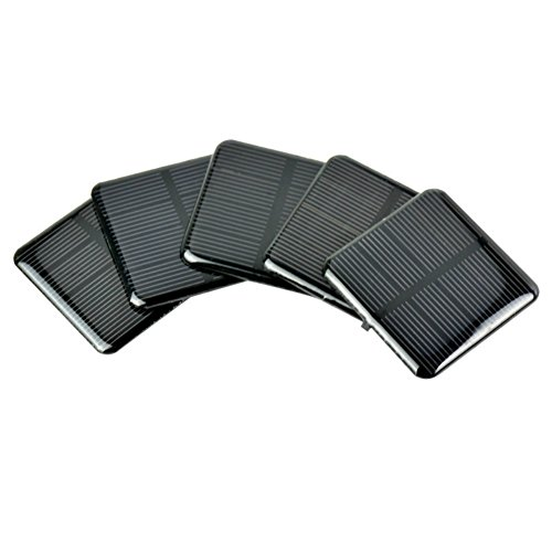 AOSHIKE 10Pcs 2V 160MA Epoxy Solar Panel Polycrystalline Solar Cell for Solar Battery Charger DIY 50x50MM(B) ()