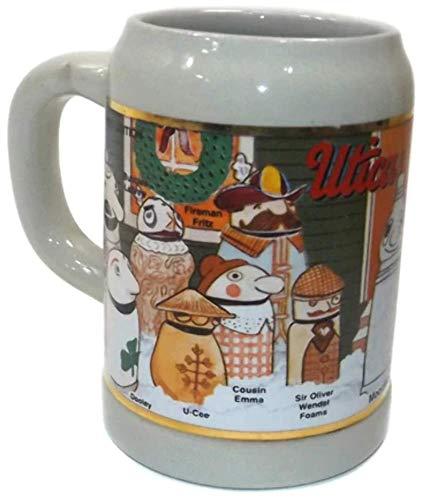 - Vintage Utica Club Beer Advertising Christmas Stein Beer Mug Tankard Germany