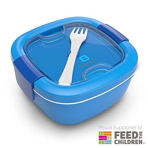 Bentgo Salad (Blue) - Conveniently Take Salads and Other Snacks On-the-go Eco-Friendly & BPA-Free Lunch Container BGOSAL-B