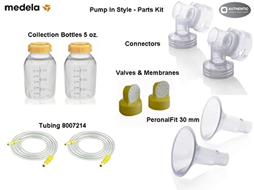 Medela Replacement Parts Kit Pump In Style Advanced with Extra Large XL 30 mm Breast Shield and Tubing #8007214 - Model 30 Tubing