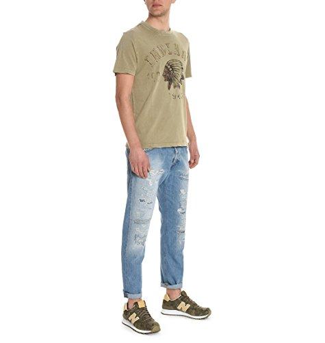 Aeronautica Militare Herren TS1394J30707184 Beige Baumwolle T-Shirt
