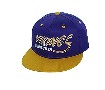 New! Minnesota Vikings Adjustable Snap Back Hat Flatbill Embroidered Cap from Twins Enterprises