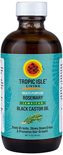Tropic Isle Living Jamaican Black Castor Oil with Rosemary Plastic PET Bottle (4 oz) (Jamaican Black Castor Oil And Rosemary Oil)