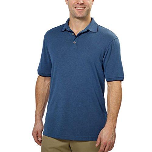 Kirkland Signature™ Men's Short Sleeve Jacquard Polo (Blue, X-Large)