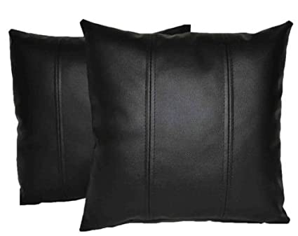 Amazon.com: Leather Lovers 100% Lambskin Leather Pillow Cover - Sofa ...
