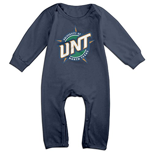 JJVAT University Of North Texas Long Sleeve Bodysuit For 6-24 Months Newborn Baby Size 24 Months Navy
