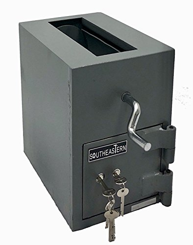 SOUTHEASTERN Top Loading Money Drop Slot Depository Safe with Dual Key Lock