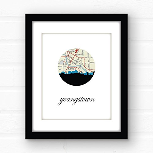 Youngstown skyline art | Youngstown wall art | giclee print