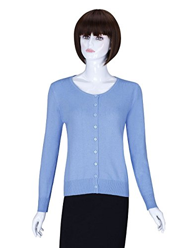 Light Blue Cardigan Sweater (ADAMARIS Cardigans for Women Black Cardigan Sweaters For Women Cashmere Green Red Pink White Yellow on Sale)