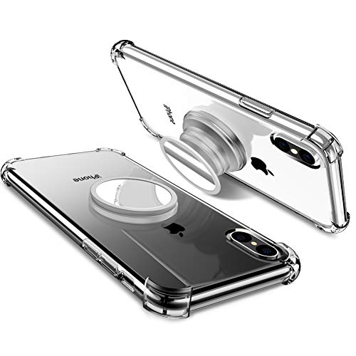 DIACLARA Case Stand Compatible with iPhone Xs Max 6.5 Inch 2018 Stress Relief Anxiety Toys, Adjustable Protective TPU Cases with Iron Mirror