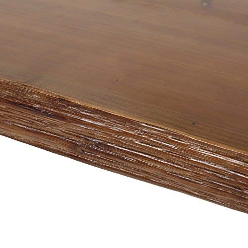 Aneissa Industrial Faux Live Edge Rectangular Bar Table, Natural by Christopher Knight Home (Image #8)