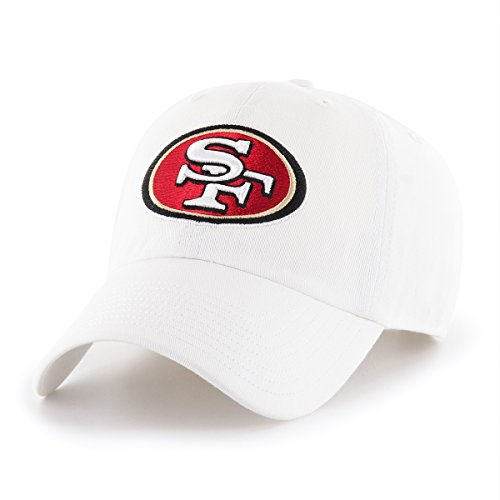 OTS NFL San Francisco 49Ers Male Challenger Adjustable Hat, White, One Size
