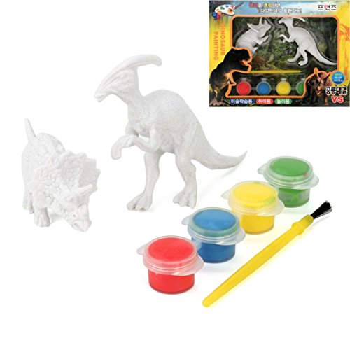 E-SCENERY Decorate Your Own Dinosaur Figurines Craft Kit, Educational Learning Toy for Kids (Random - Sunglasses Decorate Craft