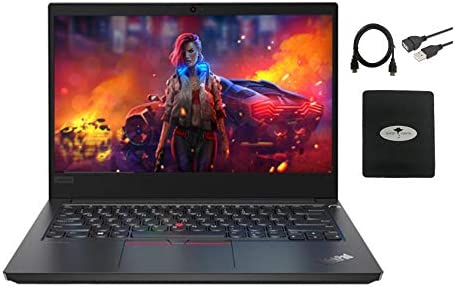 "2021 Lenovo AssumePad E14 Laptop 14"" FHD Business Computer, Intel Core i5-10210U (Beat i7-8550u), 16GB RAM, 512GB SSD, HDMI USB-C Wi-Fi Bluetooth Win 10 Pro w/GM Accessories"