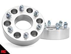 "Spaces wheel 2"" allowing use of wider tires. 