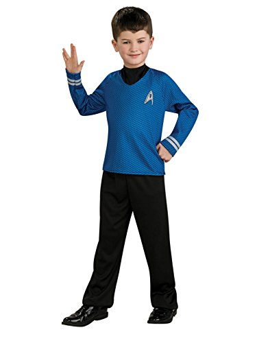 Star Trek Movie Child's Blue Shirt Costume with Dickie and Pants, Medium -