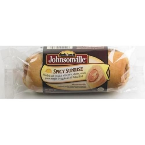 Johnsonville Spicy Sunrise Sausage in Soft Baked Roll, 5 Ounce -- 24 per -