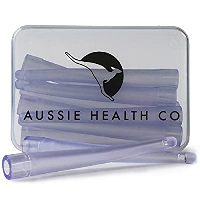 AUSSIE HEALTH CO Enema Nozzle Tips (Box Of 10) - BPA/Phthalates Free, Flexible, Soft and Comfortable PVC