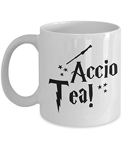 Accio Tea - White Ceramic Tea Mug - Unique Funny Harry Potte