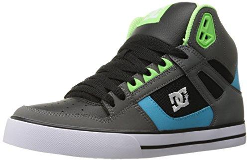 DC Shoes DC Men's Spartan High Wc - Grey/Green/Blue - 7 D...