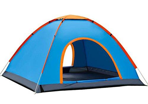 大人バドミントン石灰岩BAJIAN テント キャンプテント 2人用 ワンタッチテント 折りたたみ 二つドア 軽量防水 登山テント 設営簡単 高通気性 紫外線カット 防雨 防風 アウトドア キャンプ用品