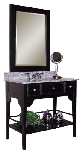 Vanity Dover - Kaco international 340-3000-B Dover 30-Inch Vanity with Distressed Black Sherwin Williams Finish, Vanity Only