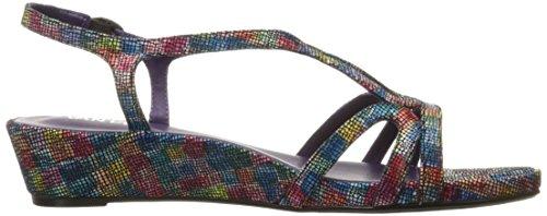 VANELi Women's Daffy Wedge Sandal Multi Kaleido/Gunmetal Buckle 0AhO27oQC