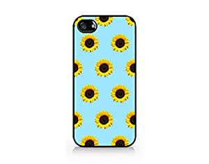 Sunflower - Sunflower Pattern - Summer Pattern - Pastel - Minimalism - Hipster - Indie - iPhone 5/5S Black Case