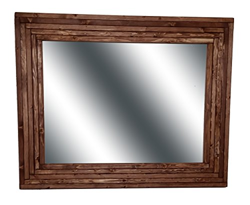 Mid Century Modern 30 x 24 Horizontal Mirror Stained in English ...