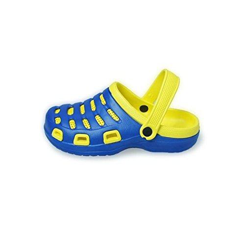 Nuova Estate Uomo Pantofole Da Donna Foro Da Giardino Eva Beach Patchwork Sandali Scarpe Royle Blu