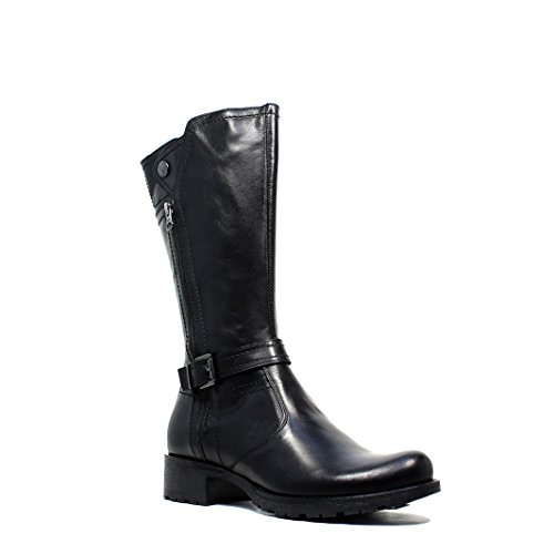 Nero GiardiniEl talón bajo de la mujer de arranque Negro A616463D 100 colección de invierno 2016 nuevo otoño 2017