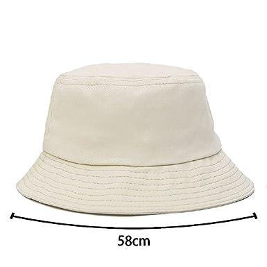 Westeng Unisexe Chapeau Bob P/êcheur en Coton Chapeau de Soleil Couleur de Bonbon Pliable Anti-UV Protection pour Adultes 58cm