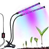 Dual-lamp Grow Light Autien 36LEDs 4 Levels 3 Modes Timing(3H/6H/12H) Plant Lights Bulbs Growing Lamps with 360 Degree Flexible Gooseneck for Indoor Plants Garden Greenhouse Tent Herbs Potted Review