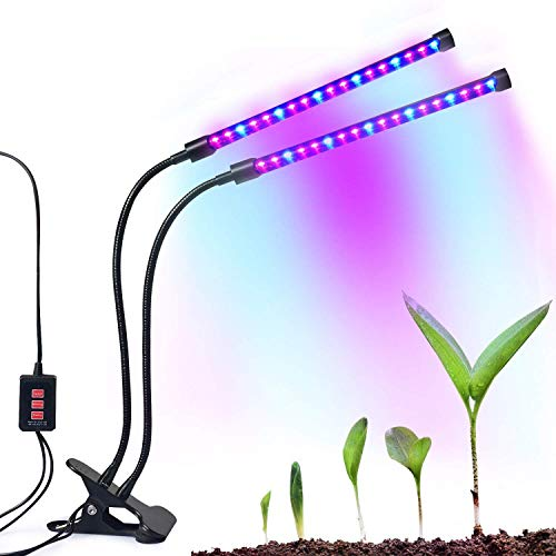 $24.99 Dual-lamp Grow Light Autien 36LEDs 4 Levels 3 Modes Timing(3H/6H/12H) Plant Lights Bulbs Growing Lamps with 360 Degree Flexible Gooseneck for Indoor Plants Garden Greenhouse Tent Herbs Potted 2019
