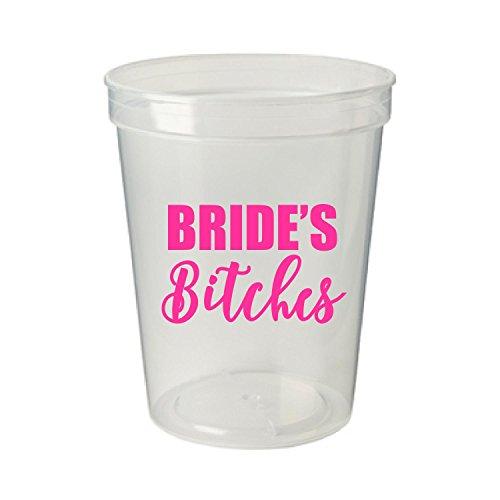 Bride's Bitches Bachelorette Party Plastic Stadium Cups