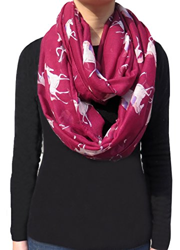 Lina-Lily-Unicorn-Horse-Print-Infinity-Womens-Scarf-Lightweight